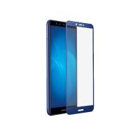 Стекло на весь дисплей 2.5D для Honor 7c Pro синее