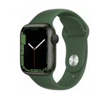 Apple Watch Series 7, 41 мм, корпус из алюминия зеленого цвета, спортивный ремешок «зелёный клевер»