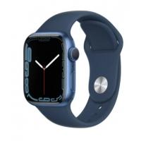 """Apple Watch Series 7, 41 мм, корпус из алюминия синего цвета, спортивный ремешок """"Синий омут"""""""