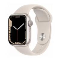Apple Watch Series 7, 41 мм, корпус из алюминия цвета «сияющая звезда», спортивный ремешок «сияющая звезда»