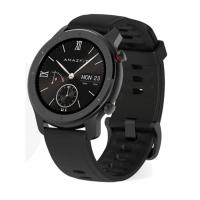 Умные часы Amazfit GTR 42mm aluminium case, silicone strap Black RUS