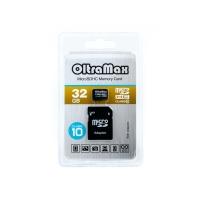 Карта памяти OltraMax MicroSDHS Class10 32Gb с адаптером