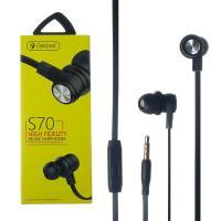 Наушники проводные Celebrat S70 3.5mm jack с микрофоном Черные