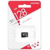 Карта памяти Smartbuy MicroSDXC UHS-1 Class10 128Gb с адаптером