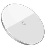 Беспроводное зарядное устройство Baseus Simple 2.0A,Стекло, Белый