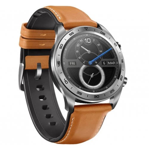 HONOR Watch Magic (stainless steel, leather strap) Silver