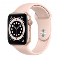 Часы Apple Watch Series 6 GPS 44mm Aluminum Case with Sport Band Rose Gold